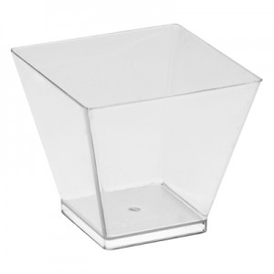 6cl Clear Square Style Bowl