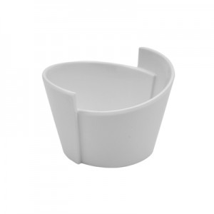 White Melamine Lotus Bowl 65ml 85x77x55mm