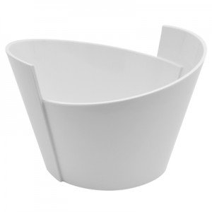 White Melamine Lotus Bowl (2.5L) 250x232x165mm