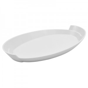 White Melamine Lotus Platter 325x182x39mm