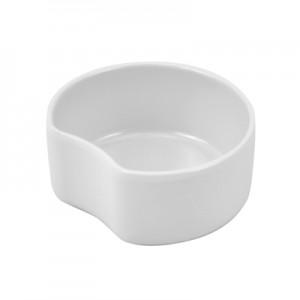 White Melamine miniature crescent dish  0.15L