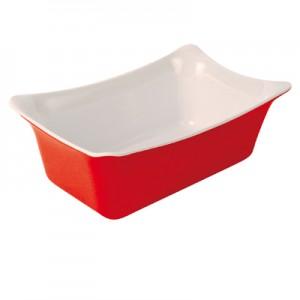 Red/White 1/4 Sz Melamine Fleur Crock  w/SF 2L