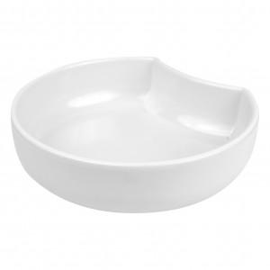 White Melamine Crescent Dish 225x208x60mm 1.4L